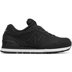 New Balance Kids Suede Perforated Athletic Sneakers ($70) ❤ liked on Polyvore featuring shoes, sneakers, black, rubber sole shoes, perforated suede sneakers, black lace up sneakers, perforated sneakers and black trainers