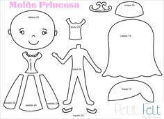 Princess template Molde princesa