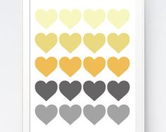 Grey Gray Yellow Feather Print Mustard and Gray Feather Art Yellow Gray Room, Yellow Art, Yellow Walls, Grey Walls, Mustard And Grey Bedroom, Yellow Wall Decor, Bedroom Colors, Gray Bedroom, Bedroom Ideas