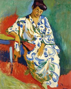 Great bofransson ANDRE DERAIN Madame Matisse Au Kimono