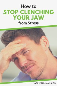 How to Stop Clenching Your Jaw from Stress - Stress Management How To Handle Stress, How To Relieve Stress, Jaw Exercises, Muscles Of The Face, How To Massage Yourself, Jaw Clenching, Relief Quotes