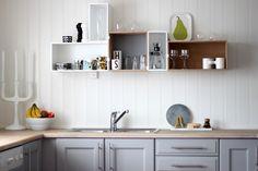 Enkel og kul løsning for å få litt ekstra plass til oppbevaring på kjøkkenet.