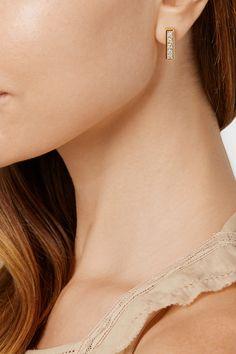 Jennifer Meyer | 18-karat gold diamond earrings | NET-A-PORTER.COM