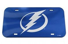 NHL Tampa Bay Lightning Laser Cut Inlaid Acrylic License Plate