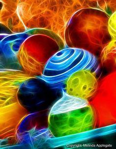 Chihully Glass Art at the Desert Botanical Garden (Photoshop Fractalius Filter)