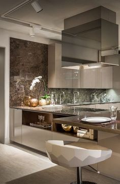 Cozinha pra lá de luxuosa!