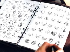 Logo sketches, brand identity and brand illustration drafts by Ramotion design agency Graphisches Design, Graphic Design Tutorials, Logo Design, Design Ideas, Site Sport, Logo Sketches, Logo Process, 2 Logo, Logo Creation