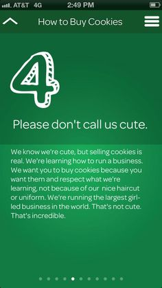 Girl Scouts: Please don't call us cute.  @robinkluke
