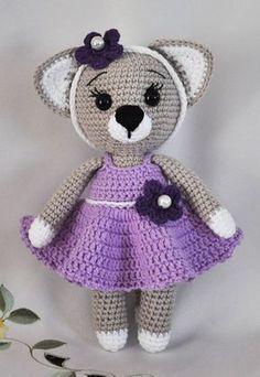 Simple amigurumi cat based on a free pattern by lilleliis #crochet ... | 342x236
