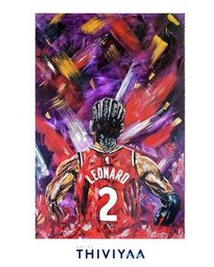 Celebrate this iconic championship in Toronto with the Kawhi Leonard artwork at ArtbyThiviyaa.com Watercolor Paintings, Original Paintings, Watercolour, Thing 1, Raptors, Limited Edition Prints, All Print, Order Prints, Are You The One