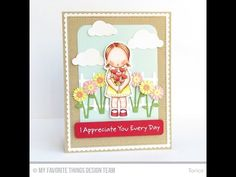 Heart Bouquet Stamp Set from My Favorite Things - YouTube #mftstamps