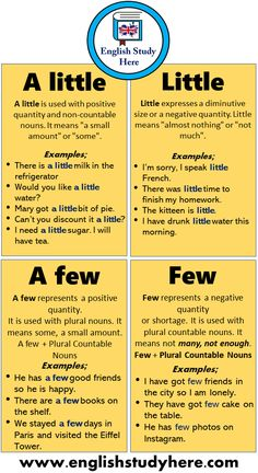 A little, Little, A few, Few, 15 Example Sentences and Definition   English Study Here English Conversation Learning, English Learning Spoken, Teaching English Grammar, English Writing Skills, English Language Learning, English Idioms, English Phrases, Learn English Words, English Study