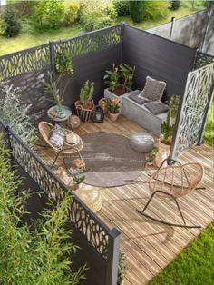 Back Garden Design, Garden Design Plans, Backyard Garden Design, Patio Design, Small Backyard Landscaping, Backyard Patio, Landscaping Ideas, Outdoor Rooms, Outdoor Gardens