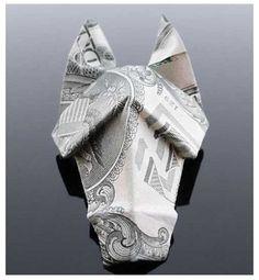 Animal – Dollar Origami Horse Head