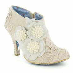 Irregular Choice Cheeky Moose 3614-45G Womens Wedding Boots - Cream & Off White