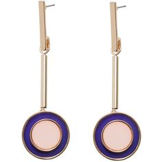 Circular Pendant Earrings found on Polyvore featuring jewelry, earrings, cuff earrings, earring cuff jewelry, cuff jewelry, earring jewelry and mango jewellery