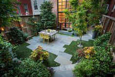 City Garden in Washington, DC | Modern Stone Patio | Patio & Garden Designers Serving DC, MD & VA