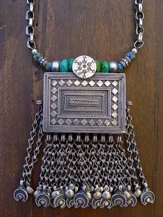 Antique Sterling Silver Prayer Box from Nepal