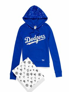 Los Angeles Dodgers Bling Pullover Hoodie - large
