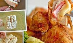 When you think of chicken nuggets, you probably envision some foamy, processed meat with a greasy crust that you dunked in ketchup as a child. These Chicken Cordon Bleu Nuggets are not those nuggets. In fact, these I Love Food, A Food, Frango Chicken, Chicken Nugget Recipes, Chicken Cordon Bleu, Devon, Appetizer Recipes, Appetizers, Foodies