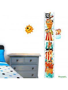 Adesivi METRO DA PARETE PIRATI Murali cm 65x33 per cameretta bambini.