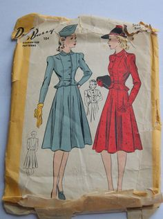 1940s Du Barry suit pattern