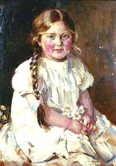 JOAQUÍN SOROLLA: portrait of a girl
