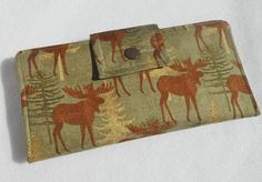 Wallet Womens Bifold Wallet Moose and Pine by LakesideQuiltsMaine, $42.00