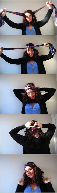 how-to bohemian hair wrap