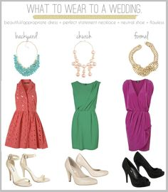 What to wear to a wedding this Spring/Summer from my friend & fellow photographer Stephanie Villa Davis.