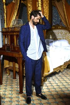 blue loungewear. #pajamas #themodman #luxe