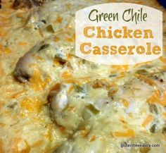 Green Chile Chicken Casserole - uses sour cream instead of cr of chicken soup. Everything else is the same.