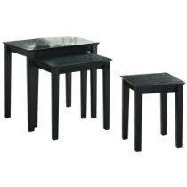Monarch Specialties Black Wood Nesting Tables, Set Of 3 Http://www.