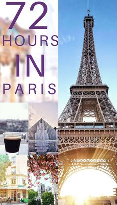 72 hours in Paris, France. How to spend three days in the city of love and the city of light. An itinerary for everything you should see in 3 days in #paris!