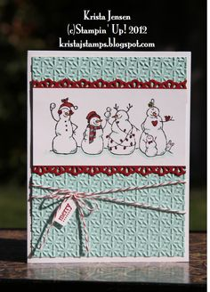 Krista's Stamper Room: Snowman Family