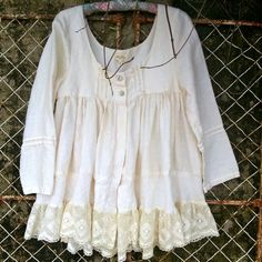 Small Linen Jacket with Vintage Lace by MegbyDesign on Etsy, $265.00