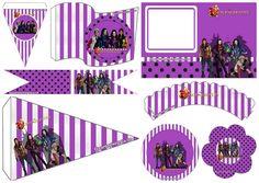 Descendientes: Mini Kit para Imprimir Gratis. | Ideas y material gratis para fiestas y celebraciones Oh My Fiesta!