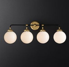 RH Modern's Bistro Globe Bath Sconce by industrialism, our globe sconce& lines and spheres are reminiscent of an urban subway map. Timeless Bathroom, Modern Bathroom, Bathroom Ideas, Bath Ideas, Cozy Bathroom, Bathroom Updates, Office Bathroom, Bathroom Laundry, Master Bathrooms