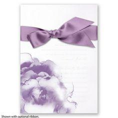 Ombre Elegance Wedding Invitation in Wisteria by David's Bridal #purpleweddings