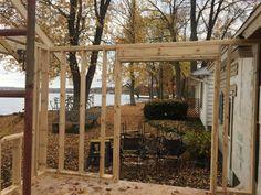 Framing porch
