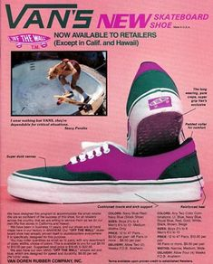 Henry Davies (Pillow Heat owner and operator) breaks down some of the most classic skate Vans. Learn your history, kids. WTC: Classic Skate Vans A few. Skates Vintage, Vintage Vans, Vintage Shoes, Vintage Sneakers, Vans Off The Wall, Skateboards Vintage, Old School Skateboards, Original Skateboards, Thrasher