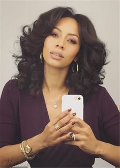 32 Layered Bob Hairstyles : Add These Hot Layers to Your Haircut Now - Style My Hairs Layered Bob Hairstyles, Dope Hairstyles, My Hairstyle, Keri Hilson Hairstyles, Black Girl Curly Hairstyles, Curly Girls, Curly Hair Styles, Natural Hair Styles, Womens Wigs