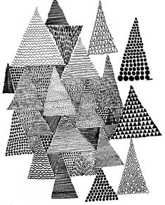 Textured triangles.