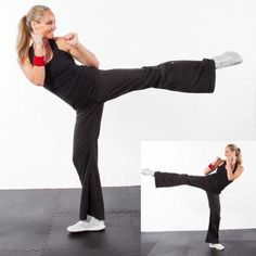 These tough kickboxing workout moves that require zero equipment and can be done pretty much anywhere. Try this kickboxing workout for a mental and cardio challenge—and a bit of strength work, too. Cardio Workout Routines, Kickboxing Workout, Aerobics Workout, Easy Workouts, Workout Ideas, Cardio Challenge, Boxing Videos, Roundhouse Kick, Shape Magazine