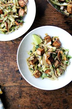 Cabbage Pad Thai-ish - No noodles here! Still totally delicious. Healthy, fresh, filling. Love this one.