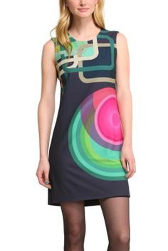 desigual womens delia dress this combines our classic circles with squares that are also already