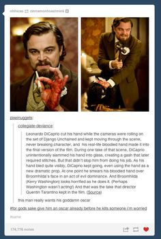 Make Leonardo DiCaprio Break Character should be a game tv show hosts play when he's visiting to promote his films. Excuse Moi, Funny Memes, Hilarious, Beth Moore, Funny Tumblr Posts, Fandoms, Just For Laughs, Laugh Out Loud, The Funny