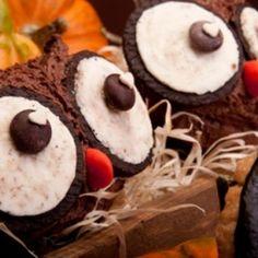 Muffin di Halloween a forma di gufo. Condivisa da: http://ilmondodeidolci.blogspot.com.ar