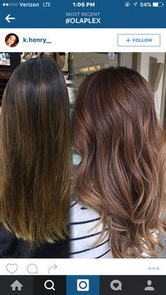 Balayage hair toned with beiges