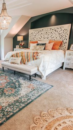 Before and after pictures. Find ideas for your own r… Cozy Master Bedroom Reveal. Before and after pictures. Find ideas for your own r…,Bedroom ideas Cozy Master Bedroom Reveal. Dream Rooms, Dream Bedroom, Interior Design Living Room, Living Room Decor, Dining Room, Suites, Deco Design, My New Room, Modern Bedroom